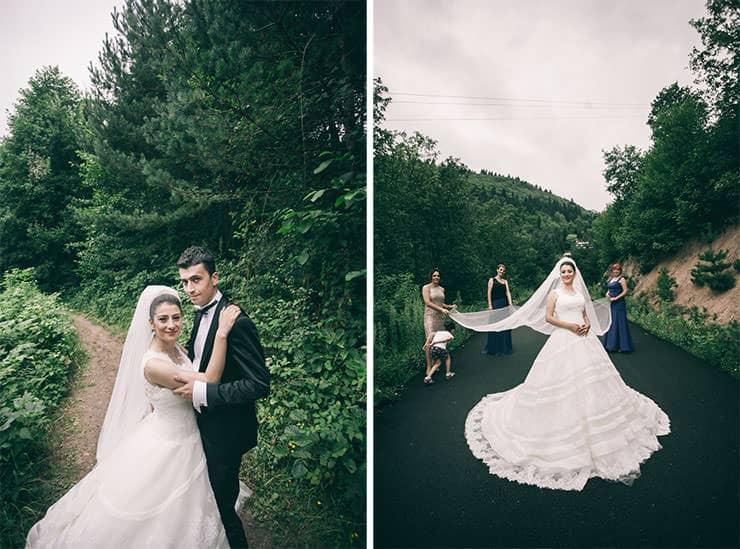 Düğün Fotoğrafı - nedimelerle dış çekim