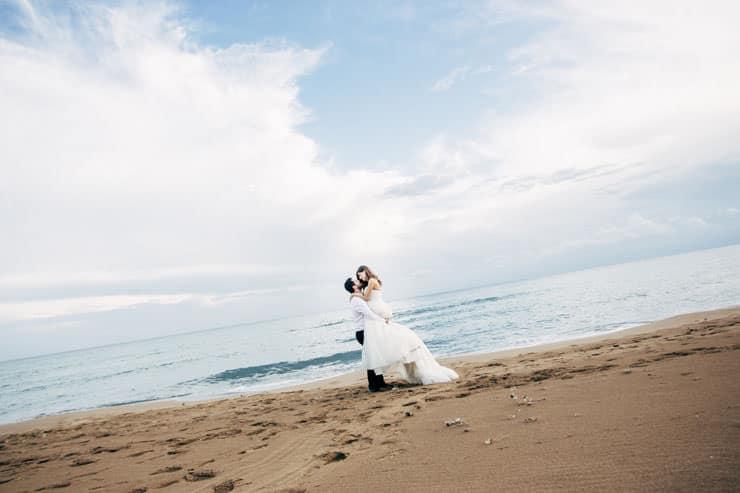beach wedding north cyprus