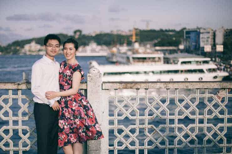Düğün Fotoğrafı - galata köprüsü