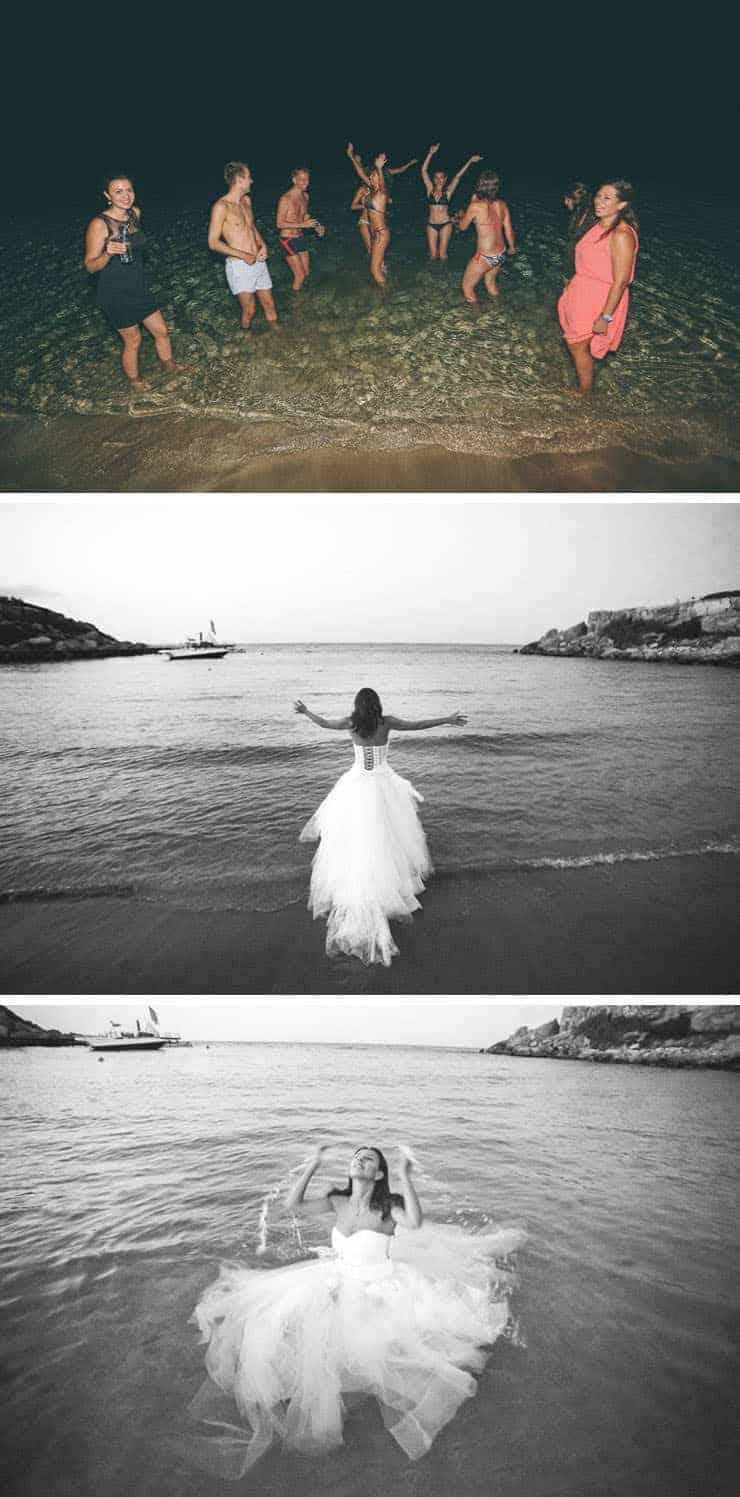 ıslak düğün fotoğrafı