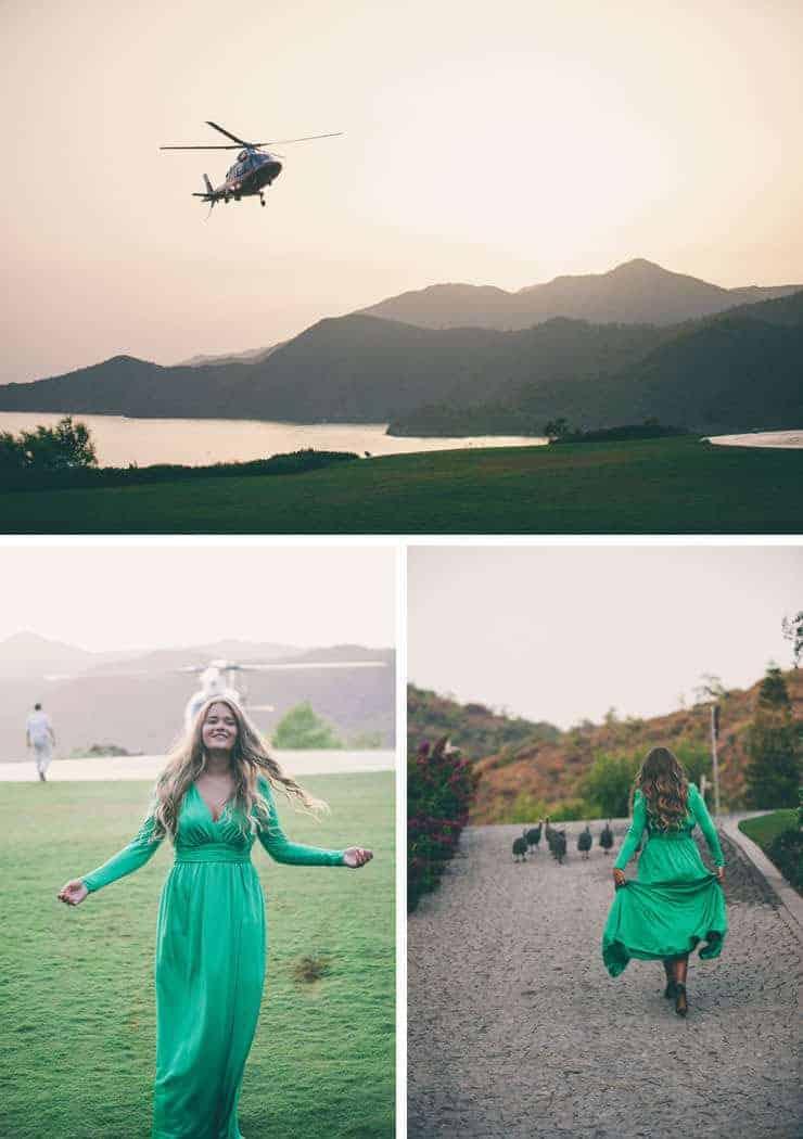 turkey wedding photos - marmaris d-hotel maris helikopter pisti