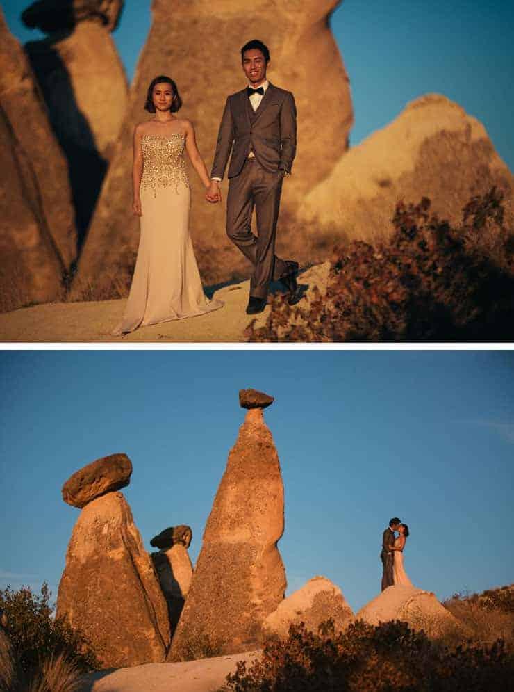turkey cappadocia wedding photos sunset