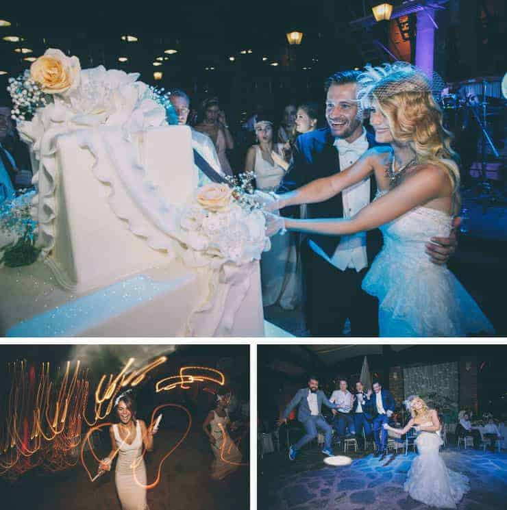 Istanbul wedding cake ceremony photos