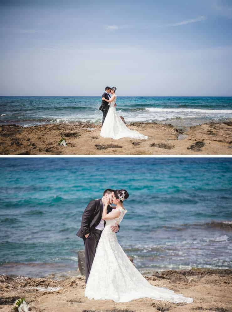 Kibris wedding photographer - beach wedding