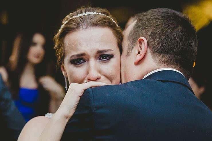 bride cry