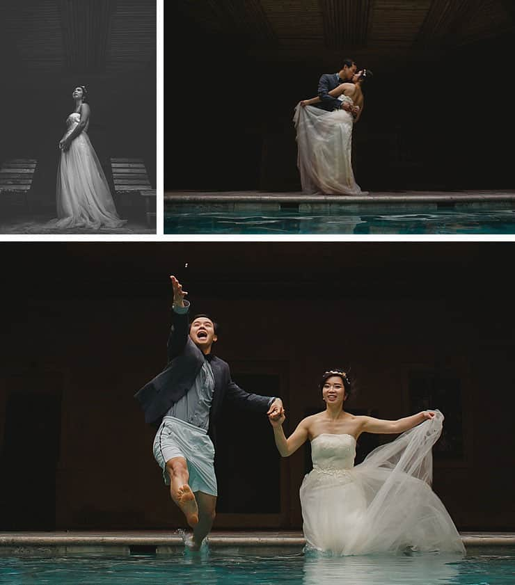 Cappadocia Wedding Photos - swimming pool