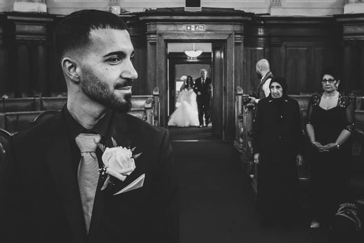 Islington Town Hall da Turk düğünü