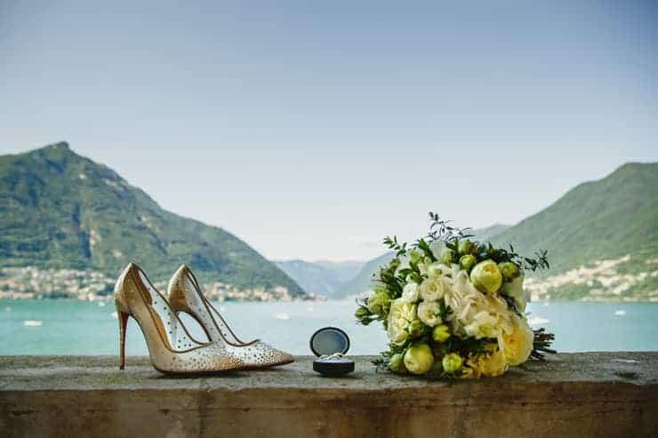 Villa Pliniana bride details