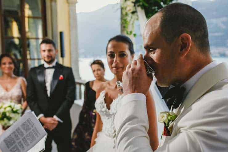 Villa Pliniana wedding ceremony