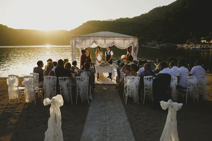 Sea Horse Beach Club Wedding Ceremony