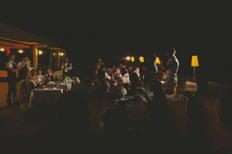 Sea Horse Beach Club Wedding Dinner