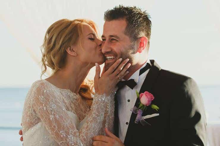 Antalay Belek Calista Luxury Resort Wedding Ceremony Kiss