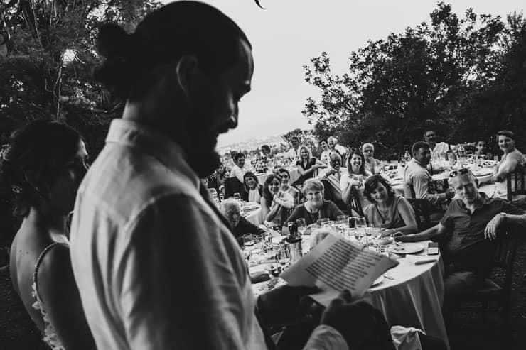 Kyrenia Bellapais Abbey Wedding - Dinner Speaches