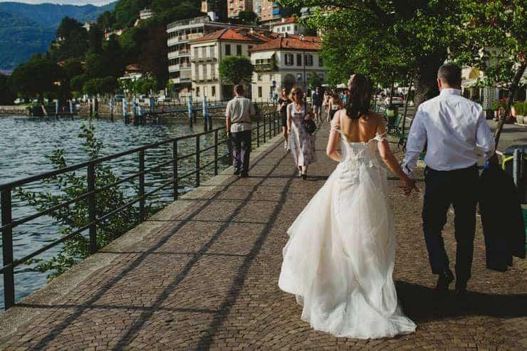 Como Lake Boat Wedding Photos