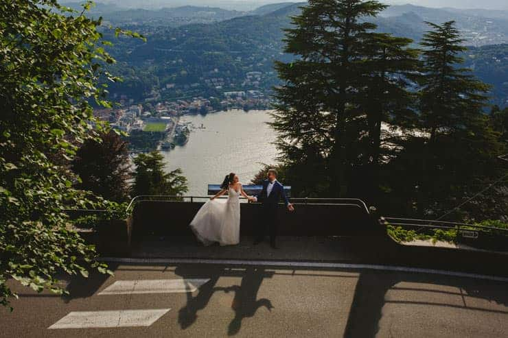 Como Lake Boat Wedding Photos