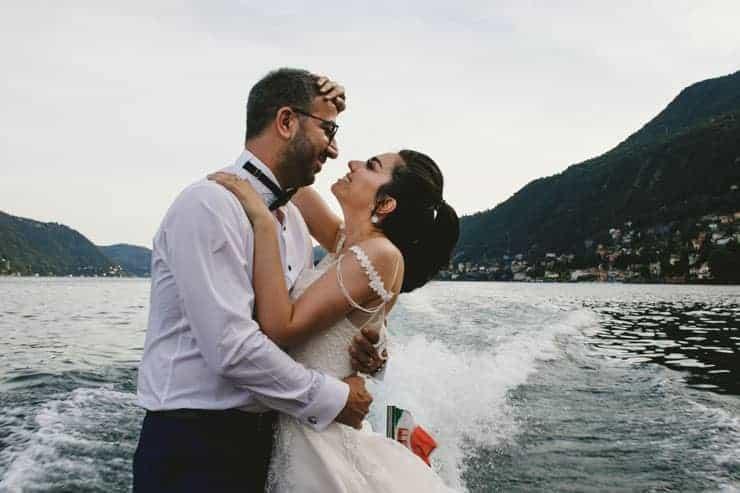 Italy Como Lake Boat Portrait Session