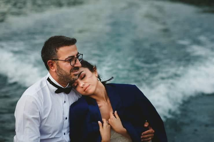 Como Lake Boat Couple Shooting - Pre Wedding