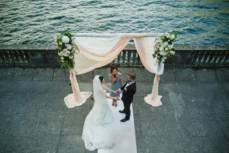 Como Lake Villa Pizzo Wedding Photos - Bride to Ceremony