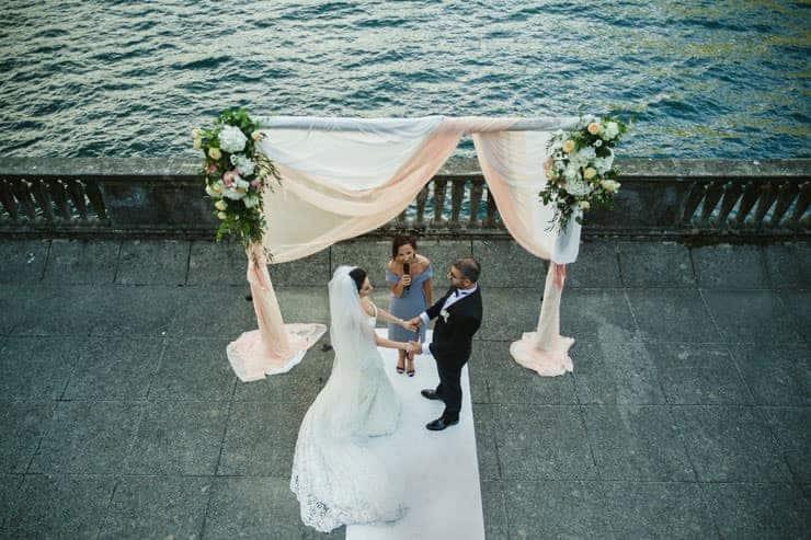Como Lake Villa Pizzo Wedding Photos - Bride to Ceremony