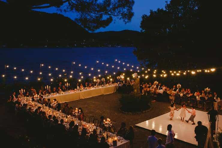Como Lake Villa Pizzo Wedding Photos - Reception