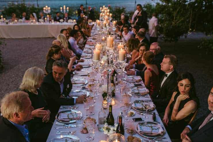 Como Lake Villa Pizzo Wedding Photos - Reception Place