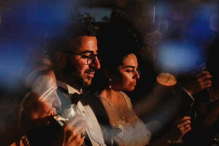 Como Lake Villa Pizzo Wedding Photos - Dinner