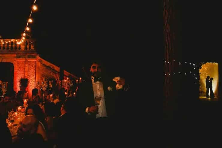 Como Lake Villa Pizzo Wedding Photos - Reception Groom