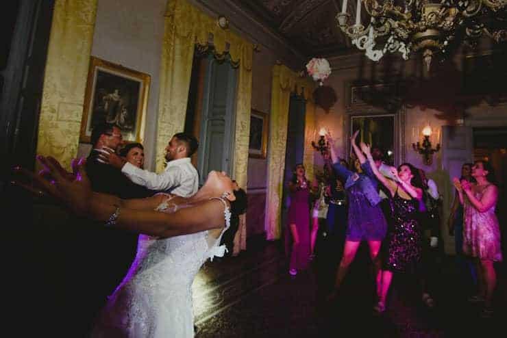 Como Lake Villa Pizzo Wedding Photos - Reception Guests