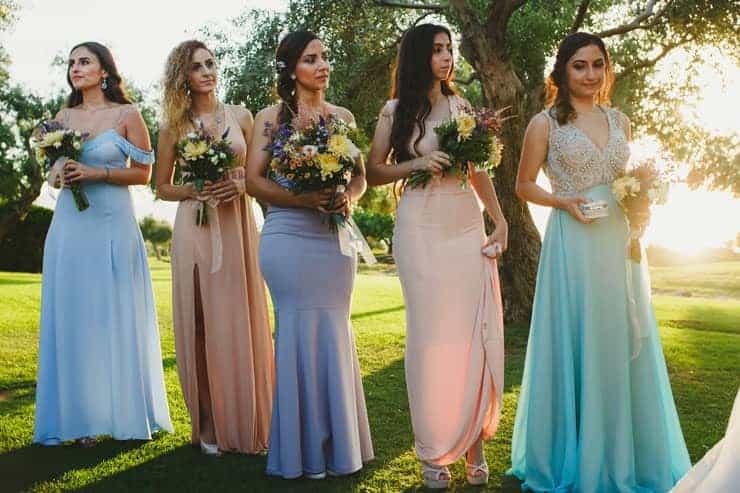 North Cyprus Korineum Wedding - Ceremony Bride Family