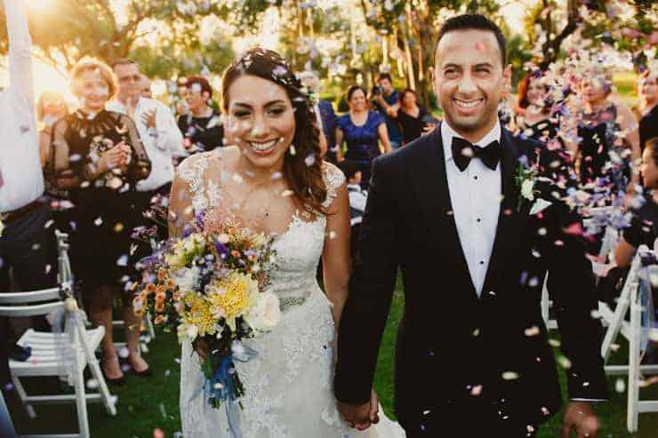 North Cyprus Korineum Wedding - first kiss