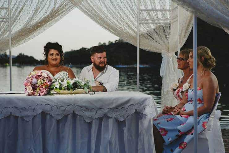 Oludeniz Billys Beach Wedding Ceremony Photos