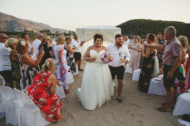 Oludeniz Billys Beach Wedding Ceremony