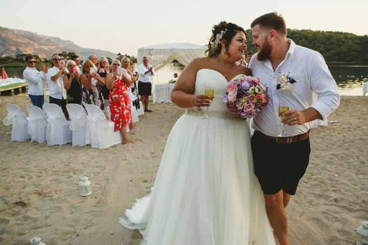 Oludeniz Billys Beach Wedding Ceremony Photograps