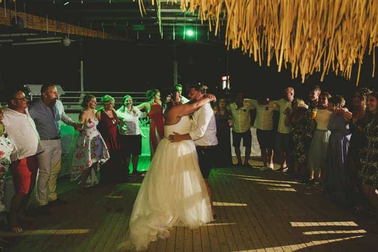 Oludeniz Billys Beach Wedding Photos - dance of the couple
