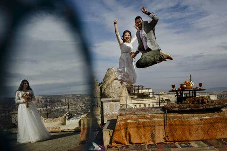 Pre-wedding photos at Sultan Cave Hotel Cappadocia Turkey