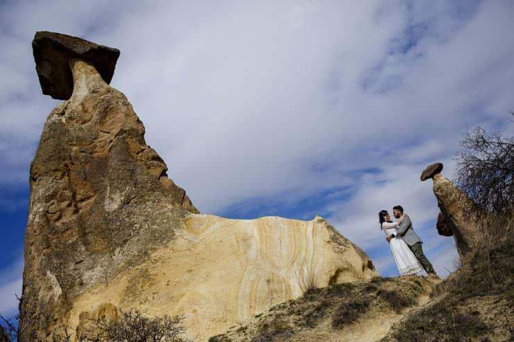 couple shooting Cappadocia