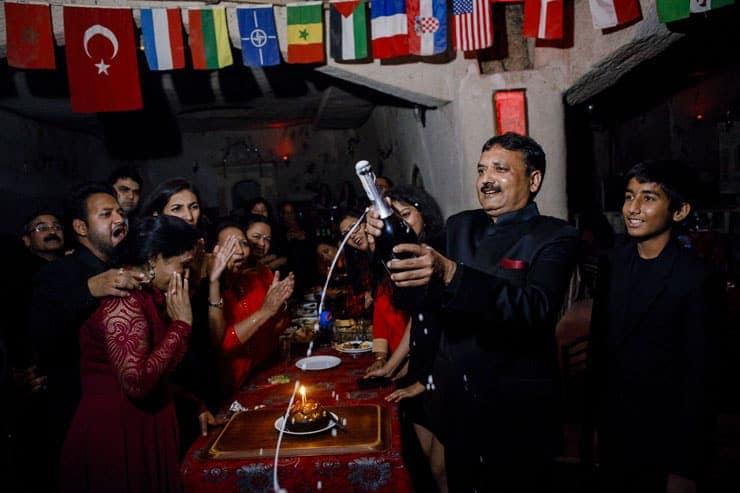 Indian Wedding Reception Cappadocia Turkey - Belly dancer