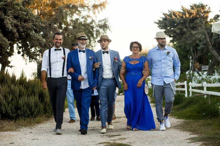 Cesme Fun Beach Wedding - Groom Family is coming