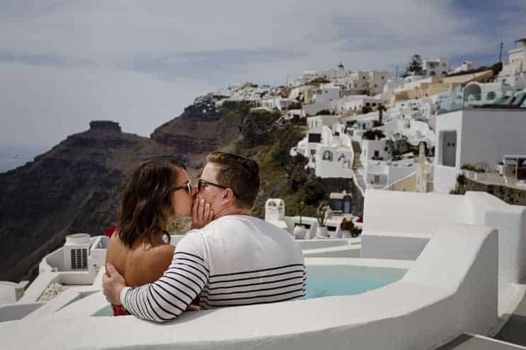Santorini Engagement Shooting - Fİra