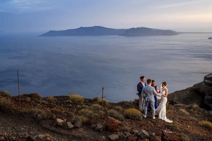Yunanistan Santorini Düğün Fotograflari