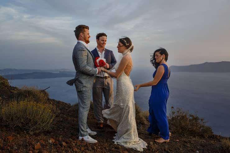 Santorini Elopement Photos - Ceremony