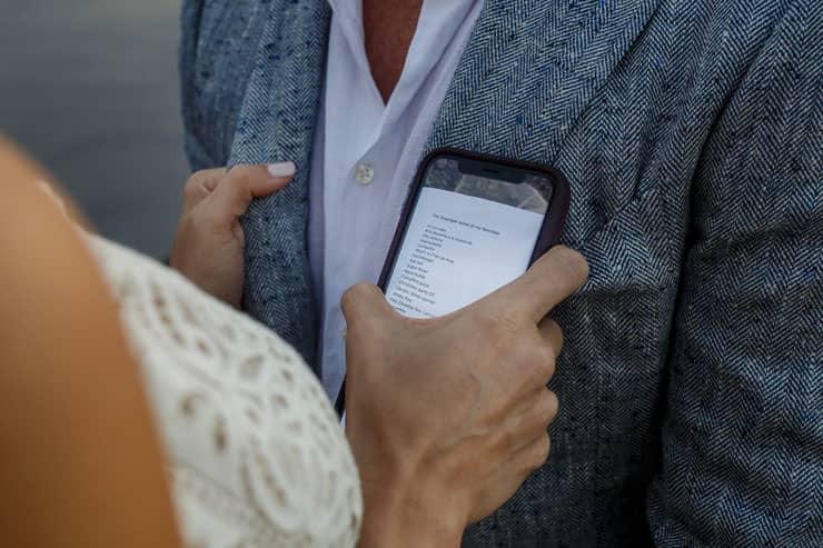 Santorini Elopement Photos - Tears at Ceremony
