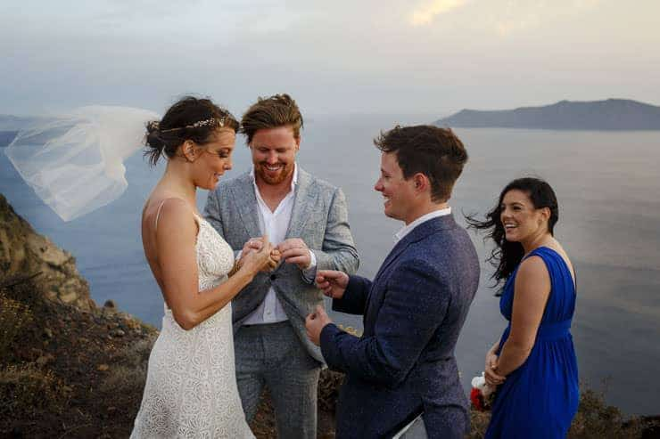 Santorini Wedding Photography - sunset