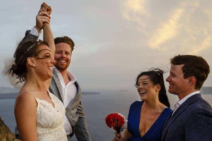 Santorini Wedding Photography - rings exchange