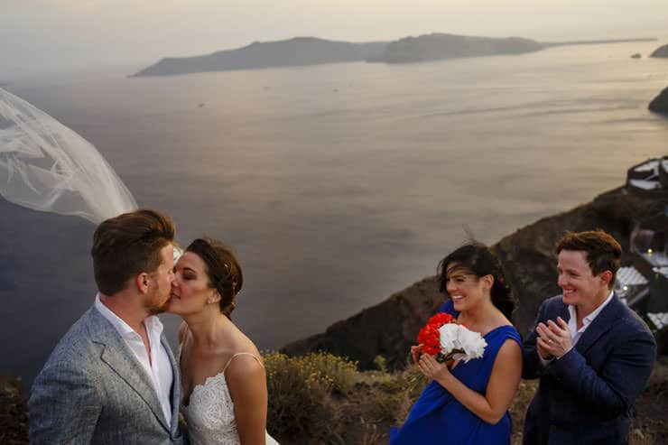 Santorini Wedding Photography - just married