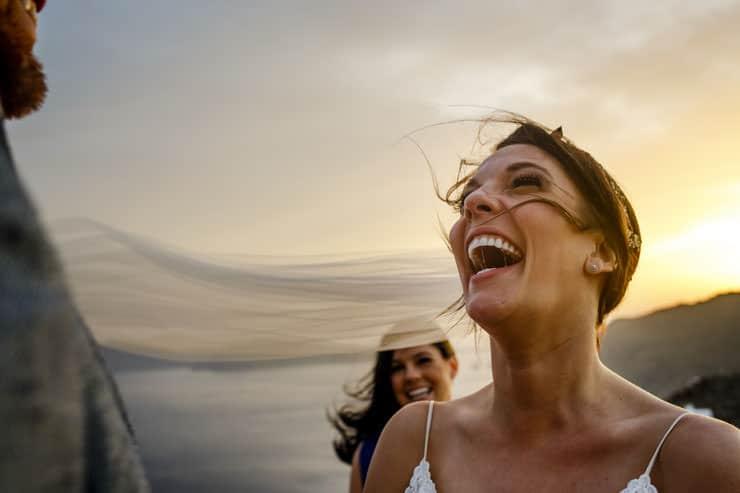 Santorini Wedding Photography - just married