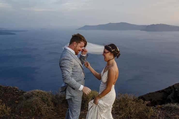 Greece Santorini Wedding Ceremony