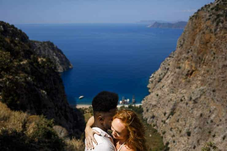 Butterfly valley couple photography