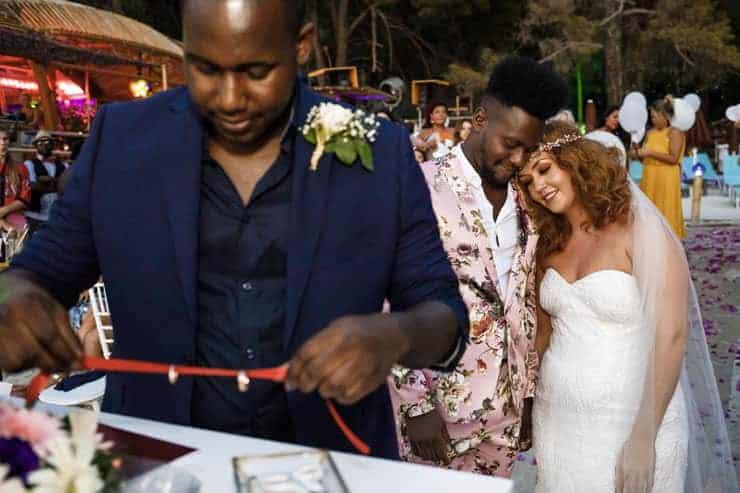 Fethiye Help Beach Wedding Photographs - vows