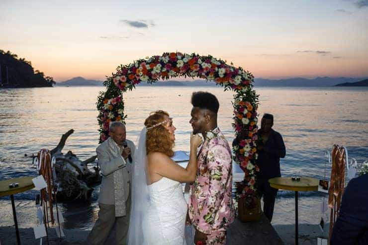 Fethiye Help Beach Wedding Photographs - end of reception